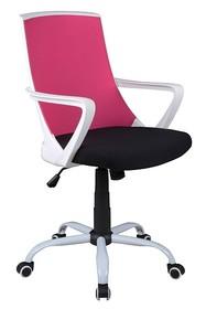 Fotel obrotowy Q-248 - różowy/czarny