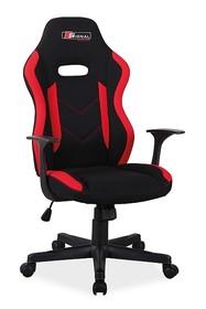 Fotel obrotowy RAPID - czarny/czerwony