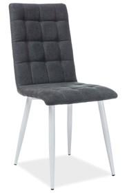 Krzesło OTTO tkanina - biały/czarny