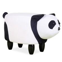 Pufa panda PAULINKA - biały/czarny