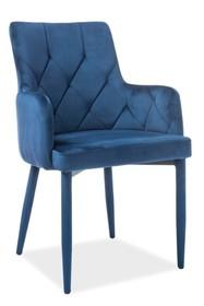 Krzesło RICARDO velvet - granatowy Bluvel 86