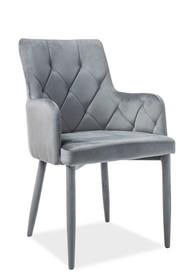 Krzesło RICARDO velvet - szary Bluvel 14