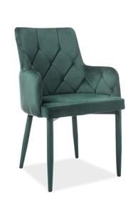 Krzesło RICARDO velvet - zielony Bluvel 78