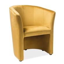 Fotel TM-1 velvet - zółty Bluvel 68