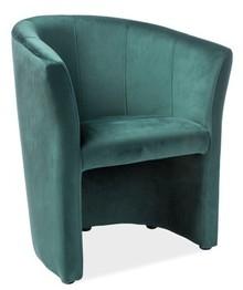 Fotel TM-1 velvet - zielony Bluvel 78