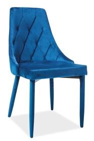 Krzesło TRIX VELVET - granatowy Bluvel 86