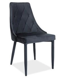 Krzesło TRIX VELVET - czarny Bluvel 19