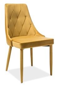 Krzesło TRIX VELVET - curry Bluvel 68
