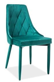 Krzesło TRIX VELVET - zielony Bluvel 78