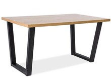 Stół VALENTINO 120x80 - okleina naturalna