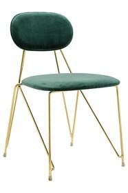 Krzesło MOLY - ciemny zielony