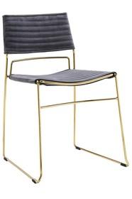 Krzesło JULIUS - ciemny szary