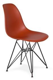 Krzesło DSR BLACK - ceglasty