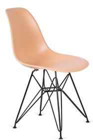 Krzesło DSR BLACK - ciepły kremowy