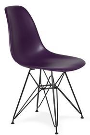 Krzesło DSR BLACK - fioletowa purpura