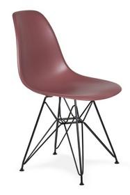 Krzesło DSR BLACK - koktajl malinowy