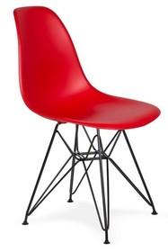 Krzesło DSR BLACK - krwista czerwień
