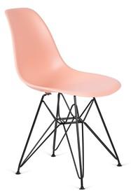 Krzesło DSR BLACK - łososiowy