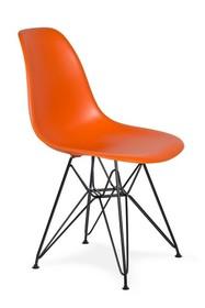 Krzesło DSR BLACK - sycylijska pomarańcz