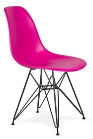 Krzesło DSR BLACK - wściekły róż