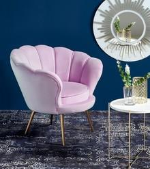 Fotel AMORINO - jasny różowy