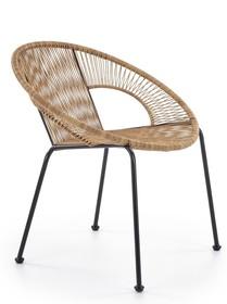BARI fotel rattanowy naturalny / czarny (1p=1szt)