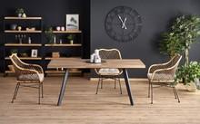 Stół rozkładany BERLIN 140x85 - orzech miodowy/czarny