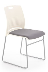 Fotel konferencyjny CALI - biały / popiel