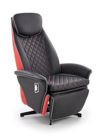 Fotel wypoczynkowy CAMARO - czarny/czerwony