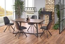 CARUZZO stół, nogi - antracytowy, blat - ciemny orzech (2p=1szt)