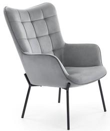 Fotel wypoczynkowy CASTEL - czarny/jasny popiel
