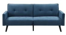 Sofa rozkładana CORNER z funkcją narożnika - niebieska