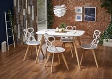 Stół DAVID 120x80 - biały/buk