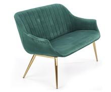 Sofa ELEGANCE 2 XL - ciemny zielony/złoty