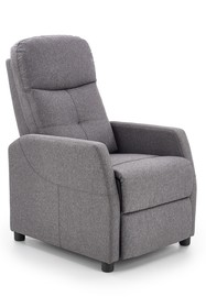 Fotel wypoczynkowy FELIPE - ciemny popiel