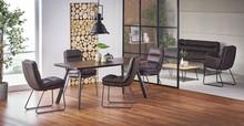 FIRMINO stół, nogi - antracytowy, blat - ciemny orzech (2p=1szt)