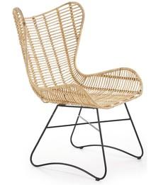 INDIANA fotel wypoczynkowy rattan naturalny (2p=1szt)