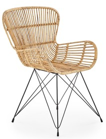Krzesło K335 rattanowe - naturalny