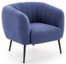 LUSSO fotel wypoczynkowy ciemny niebieski