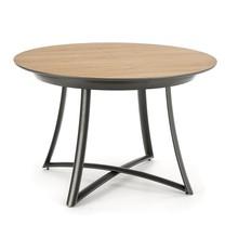Stół okrągły rozkładany MORETTI 118 cm - dąb złoty/antracyt