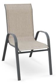 Krzesło ogrodowe MOSLER - popielate