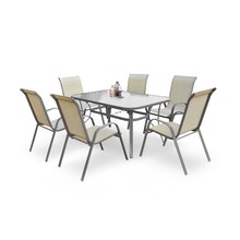 Stół ogrodowy MOSLER 150x90 - popielaty