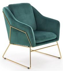 Fotel SOFT 3 - ciemny zielony/złoty