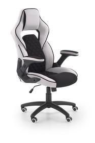 Fotel gabinetowy SONIC - czarny/jasny popiel