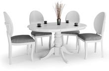 Stół rozkładany WILLIAM 90 - biały