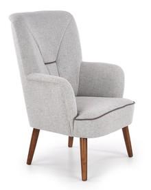 Fotel wypoczynkowy BISHOP - jasny popiel