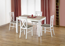 Stół rozkładany MAURYCY 118x75 - dąb sonoma/biały