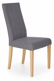 Krzesło DIEGO - dąb miodowy/ciemny popiel