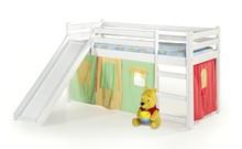 Łóżko piętrowe ze zjeżdżalnią i materacem NEO PLUS - biały