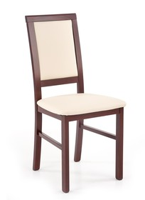 Krzesło SYLWEK 1 BIS - ciemny orzech/beż